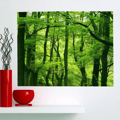 Buy GREEN Fresh Forest Waterproof Multifunction Stick-on Wall Art Painting for $14.78 in GearBest store