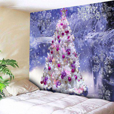 Christmas Tree Snowflake Wall Tapestry