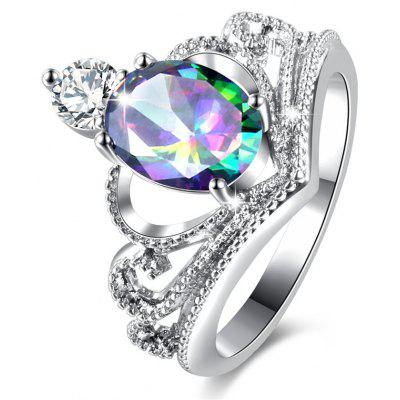 Sparkly Faux Crystal Gem Oval Ring