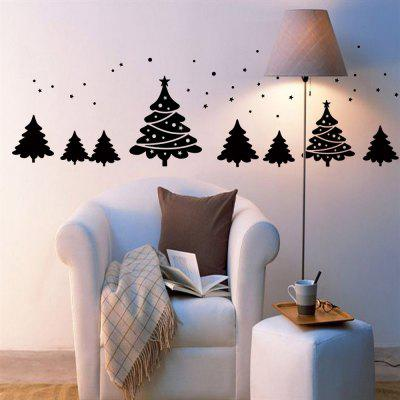 Christmas Tree Pattern Wall Art Sticker For Living Room