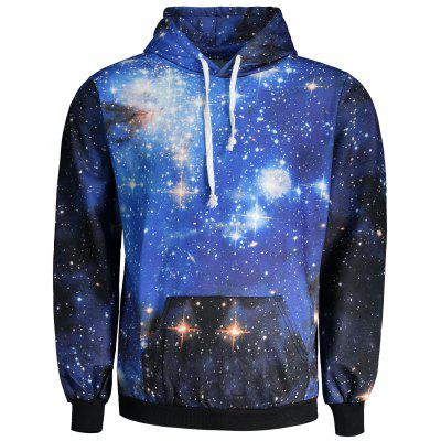 Kangaroo Pocket Galaxy Print Cool Hoodie