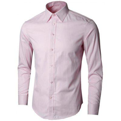 Buy PINK 2XL Long Sleeve Plain Business Shirt for $21.58 in GearBest store