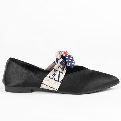 Bowknot Slip On Flat Shoes