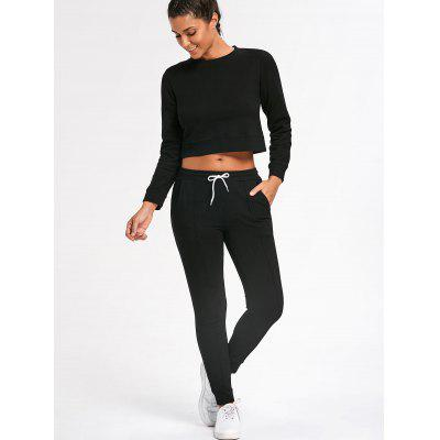 Cropped Sweatshirt with Jogger Pants