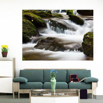 Buy GREEN Torrent Creek Patterned Removable Multifunction Wall Art Painting for $14.78 in GearBest store