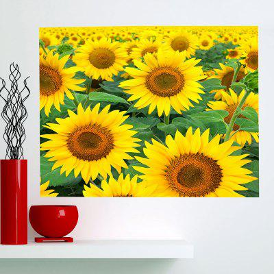Buy YELLOW Sunflowers Patterned Multifunction Removable Wall Art Painting for $14.78 in GearBest store