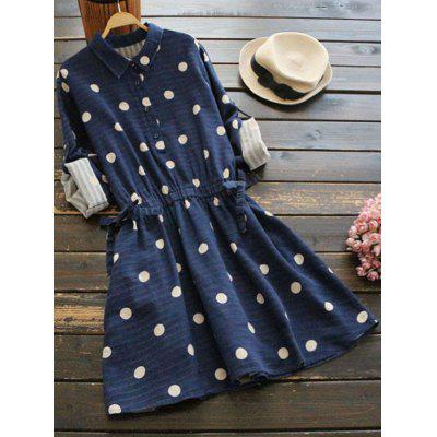 Polka Dot Flare Shirt Dress