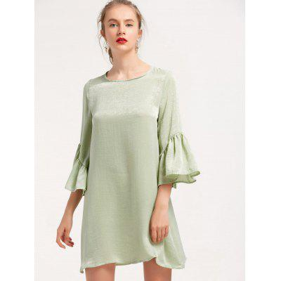 Flouncy Sleeve Shift Mini Dress