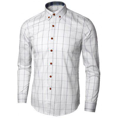 Button Down Collar Grid Shirt