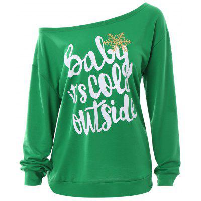 Plus Size Baby Its Cold Outside Christmas Sweatshirt