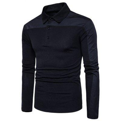 Polo Kragen Polyester Panel T-Shirt