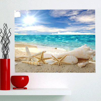 Shell Starfish Beach Waterproof Removable Wall Art Painting