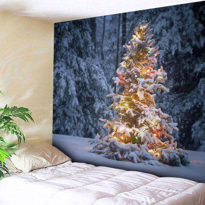 Wall Hanging Christmas Snow Tree Tapestry