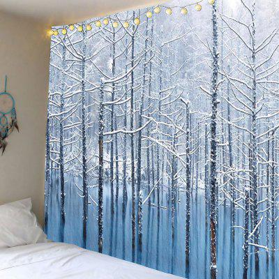 Lake Snowscape Pattern Wand Hanging Tapisserie