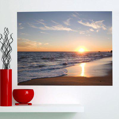 Seaside Sunset Printed Multifunction Waterproof Wall Art Painting
