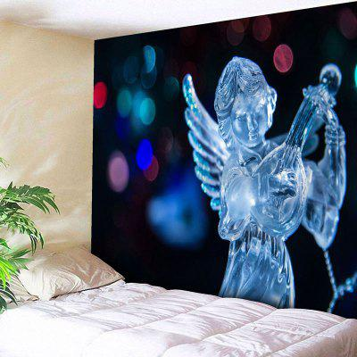 Christmas Ice Sculpture Angel Wall Tapestry