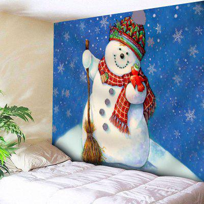 Wall Hanging Snowman Christmas Tapestry