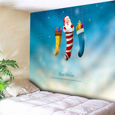 Christmas Socks Santa Claus Wall Tapestry