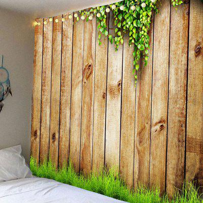 Wooden Cirrus Pattern Waterproof Wall Hanging Tapestry