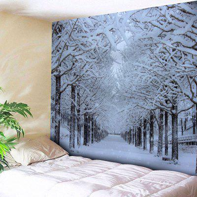 Wall Hanging Snowscape Print Tapestry