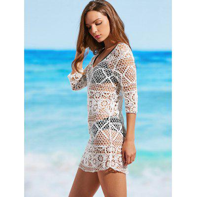 Scoop Crochet Cover Up DressLingerie &amp; Shapewear<br>Scoop Crochet Cover Up Dress<br><br>Cover-Up Type: Dress<br>Gender: For Women<br>Material: Polyester<br>Package Contents: 1 x Dress<br>Pattern Type: Solid<br>Weight: 0.2100kg