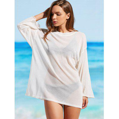Knitted Sheer Cover Up Top