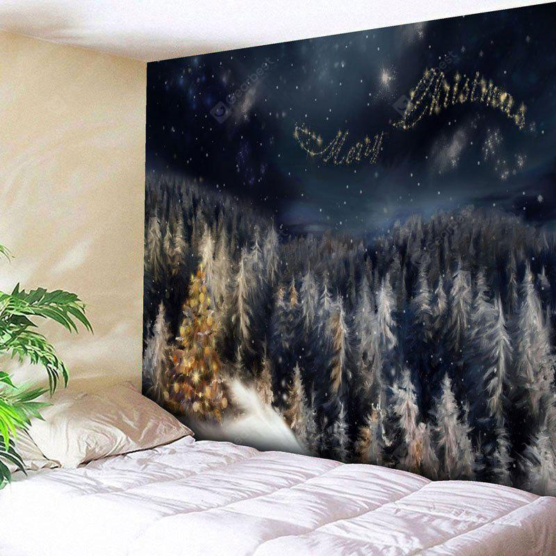 Merry Christmas Tree Wall Tapestry