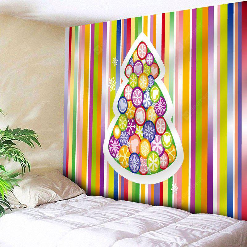 Christmas Tree Striped Wall Tapestry