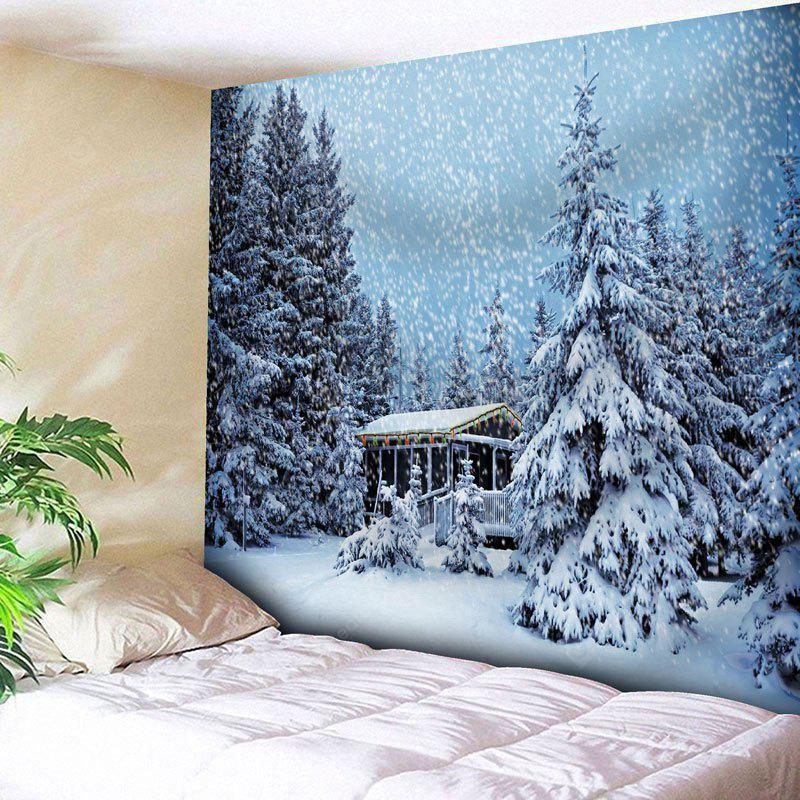 Christmas Snowscape Print Wall Tapestry