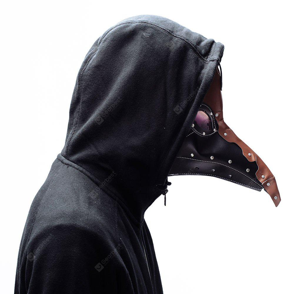 Halloween Classic Steampunk Plague Doctor Black Crow Mask