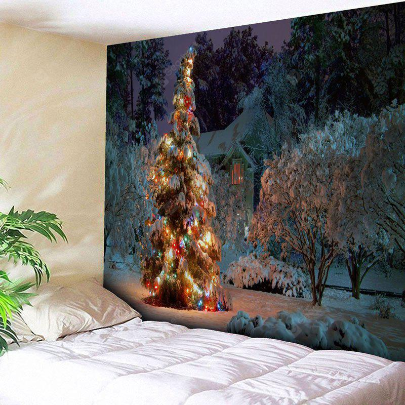 Christmas Tree Snowscape Wall Tapestry