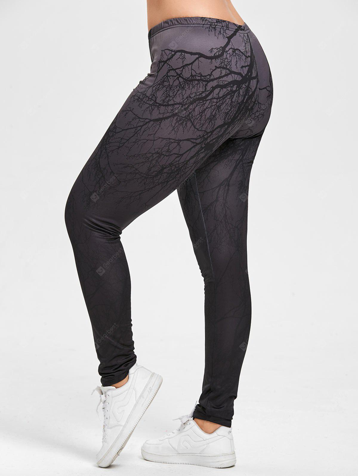 Halloween Branches Ombre Stampa Leggings Dimensione