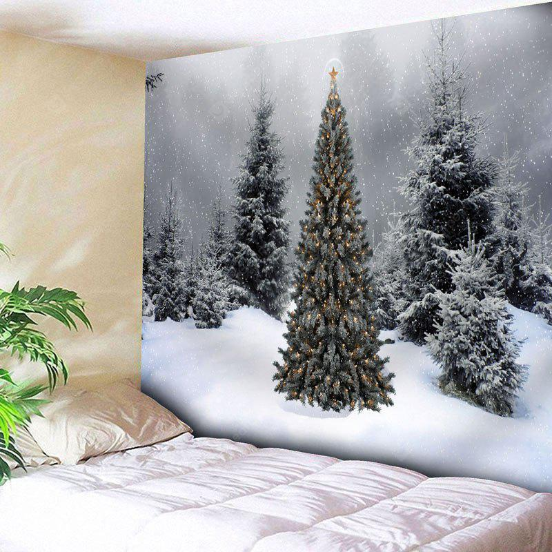 Christmas Snow Tree Wall Decor Tapestry