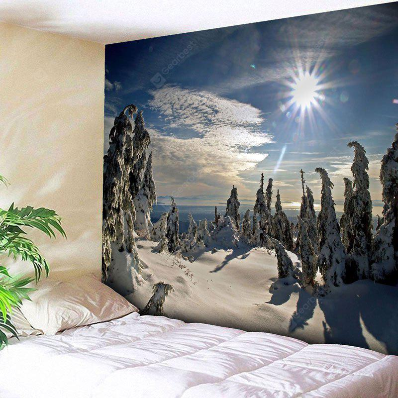 Christmas Snowscape Wall Tapestry