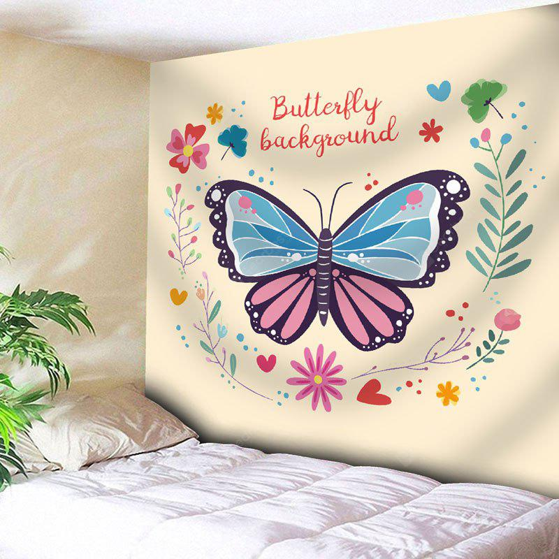Flower Butterfly Wall Art Tapestry