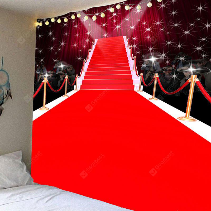 Red Carpet Stage Pattern Waterproof Wall Hanging Tapestry