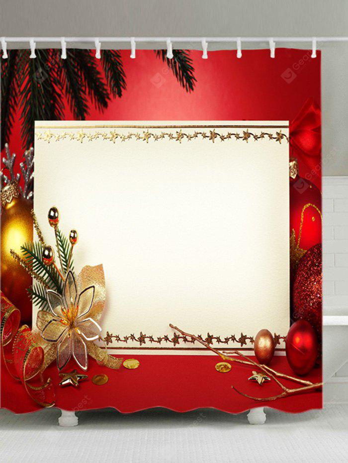 Christmas Decoration Print Fabric Waterproof Shower Curtain