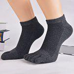 Five Finger Toe Cotton Blend Ankle Socks - DEEP GRAY