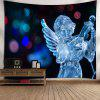 Christmas Ice Sculpture Angel Wall Tapestry - BLACK