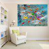 Fishes In Water Patterned Multifunction Removable Wall Art Painting - CLOUDY