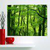 Fresh Forest Waterproof Multifunction Stick-on Wall Art Painting - GREEN