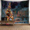 Christmas Tree Snowscape Wall Tapestry - COLORMIX