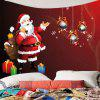 Santa Claus Gift Pattern Wall Hanging Tapestry - RED
