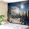 Christmas Snowscape Wall Tapestry - BLUE