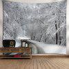 Snowscape Print Wall Decor Tapestry - WHITE