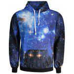Kangaroo Pocket Galaxy Print Cool Hoodie - COLORMIX