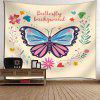 Flower Butterfly Wall Art Tapestry - PALOMINO