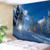 Wall Art Snowscape Print Tapestry - SKY BLUE
