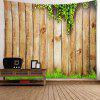 Wooden Cirrus Pattern Waterproof Wall Hanging Tapestry - WOOD