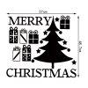 Christmas Tree Gift Pattern Wall Sticker For Living Room - BLACK
